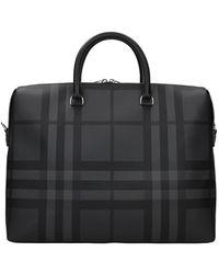 Burberry Work Bags Fabric - Black