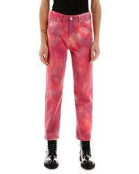 MSGM Tie-dye Jeans - Red