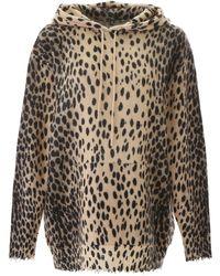 R13 Leopard Printed Jumper - Multicolour