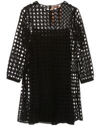 N°21 Perforated Mini Dress - Black