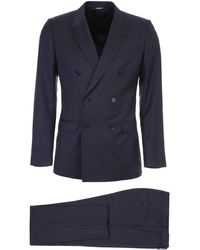 Dolce & Gabbana Double-breasted Suit - Blue