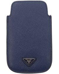 Prada Iphone Cover Men Blue