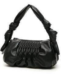 Miu Miu Knots Nappa Bag - Black