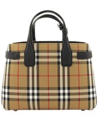 Burberry The Small Banner In Vintage Check And Leather - Multicolour