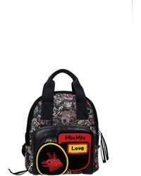 Miu Miu Backpacks And Bumbags Fabric - Black