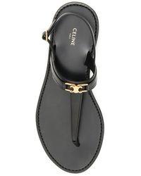 Céline Triomphe Sandals - Black
