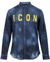 DSquared² Icon Denim Shirt - Blue