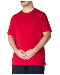 Nautica Big & Tall Active Stretch Pocket Tee Red