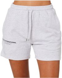 Stussy Text Lw Waisted Short Snow Marle - White