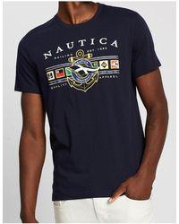 Nautica Colored Flag Tee - Blue
