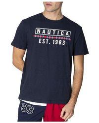 Nautica Deep Sea Racing Graphic Tee Navy - Blue
