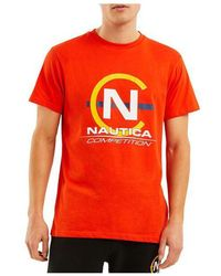 Nautica Competition Hoy Tee Red