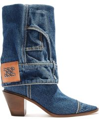 Casadei Space Cowgirl Jeans - Blue