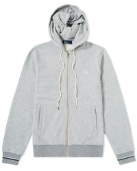 Fred Perry Hooded Sweat - Gray