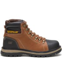 Caterpillar Erpillar Foxfield Steel Toe Work Boot Trail - Brown