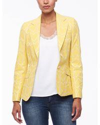 Cavallaro Napoli Women Colbert - Venosa Blazer - Geel - 73%katoen 22%polyester 5%andere Materialen