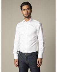 Cavallaro Napoli Heren Overhemd - Nos Bianco Overhemd - Wit