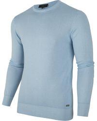 Cavallaro Napoli Marcello R-neck Pullover - Blauw