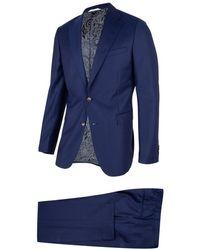 Cavallaro Napoli Heren Pak - Ottavio Suit - Donkerblauw