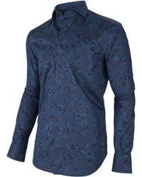 Cavallaro Napoli Primo Overhemd - Blauw