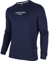 Cavallaro Napoli Men Trui - Paolo Logo Sweat - Blauw