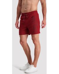Cavallaro Napoli Men Zwembroek - Felpo Swim Shorts - Rood - 100% Polyester