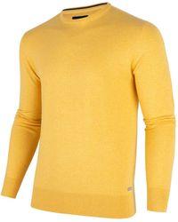 Cavallaro Napoli Heren Pullover - Tomasso R-neck Pullover - Geel