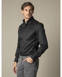 Cavallaro Napoli Heren Overhemd - Nos Black Overhemd - Zwart
