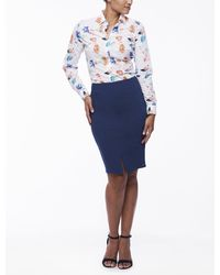 Cavallaro Napoli Women Rok - Nozza Skirt - Kobalt - 53% Katoen 44% Polyamide (nylon) 3% Elastaan - Blauw