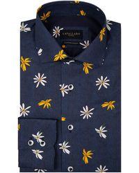 Cavallaro Napoli Fiorello Overhemd - Blauw