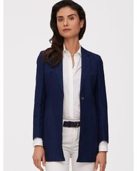 Cavallaro Napoli Women Colbert - Valeria Blazer - Blauw - 44% Polyamide, 38% Polyester, 16% Viscose, 2% Elastaan