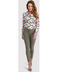 Cavallaro Napoli Women Broek - Emilia Pants - Groen - 95% Polyester 5% Elastaan
