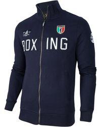 Cavallaro Napoli Boxing Zip Sweat - Blauw