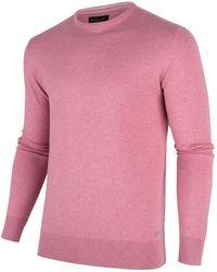 Cavallaro Napoli Heren Pullover - Tomasso R-neck Pullover - Roze
