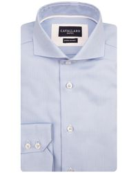 Cavallaro Napoli Heren Overhemd - Spadio Overhemd - Lichtblauw