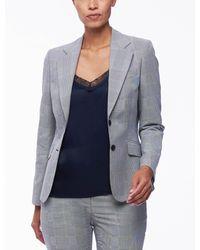 Cavallaro Napoli Women Colbert - Venosa Blazer - Donker Navy - 56% Katoen, 44% Polyester - Blauw