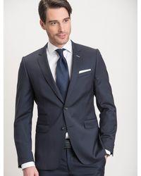 Cavallaro Napoli Men Colbert - Napoli Jacket - Donkerblauw - 100% Scheerwol