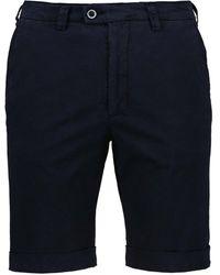 Cavallaro Napoli Heren Korte Broek - Santo Bermuda Shorts - Donkerblauw