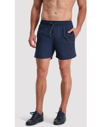 Cavallaro Napoli Men Zwembroek - Felpo Swim Shorts - Donkerblauw - 100% Polyester
