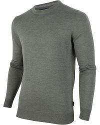 Cavallaro Napoli Merino R-neck Pullover - Groen