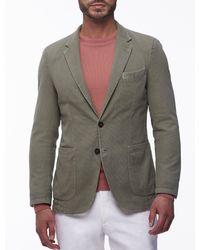 Cavallaro Napoli Men Colbert - Saverio Jacket - Groen - 100% Katoen