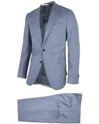Cavallaro Napoli Heren Pak - Ottavio Suit - Blauw