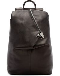 Wooyoungmi - Black Leather Triangular Backpack - Lyst