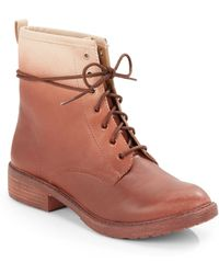 Lucky Brand Novembere Ombrã© Leather Ankle Boots - Lyst