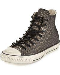 Converse John Varvatos Metallic Reptile-Embossed High-Top Sneaker - Lyst