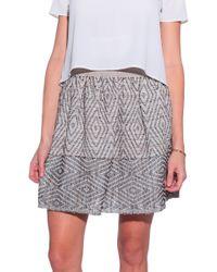 Giada Forte Textured Skirt - Lyst