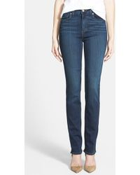 Paige 'Hoxton' High Rise Straight Leg Jeans - Lyst