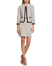 Vince Camuto - Petite Tweed Front-zip Jacket - Lyst