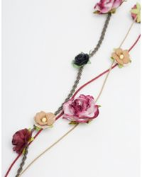 Asos Mini Paper Flowers Hair Grip With Plait Detail - Lyst