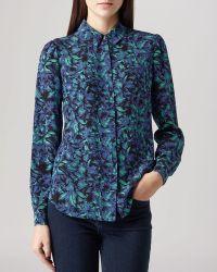 Reiss Shirt - Marion Printed Silk - Lyst
